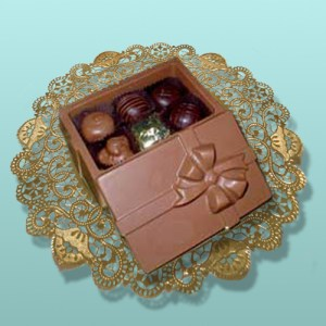 Chocolate Box with a Bow Assortment