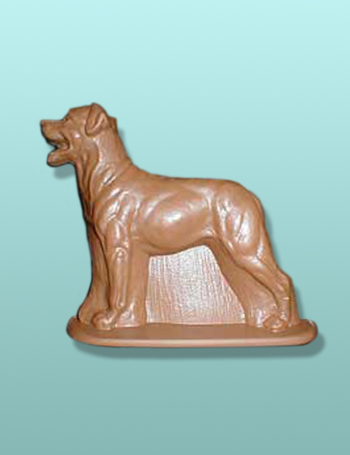 Chocolate Rottweiler Dog Flat Plaque