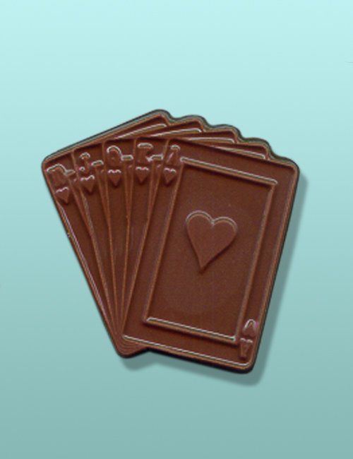 Chocolate Royal Flush Cards Favor