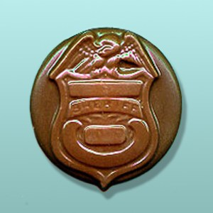 Chocolate Sheriff Badge Favor I