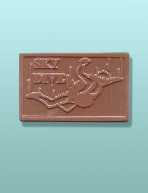 Chocolate Sky Diving Bar Party Favor
