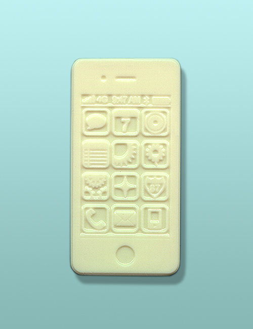 Chocolate Smart Phone White Party Favor
