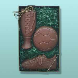3 pc. Chocolate Soccer Gift Set