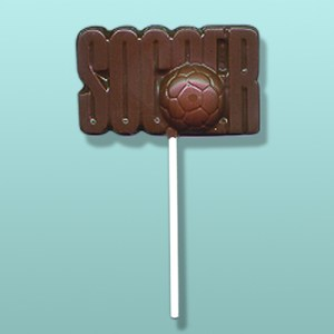 Chocolate Soccer Sign Party Favor