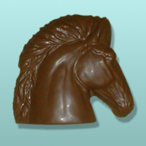Chocolate Wild Stallion Horse Head Plaque