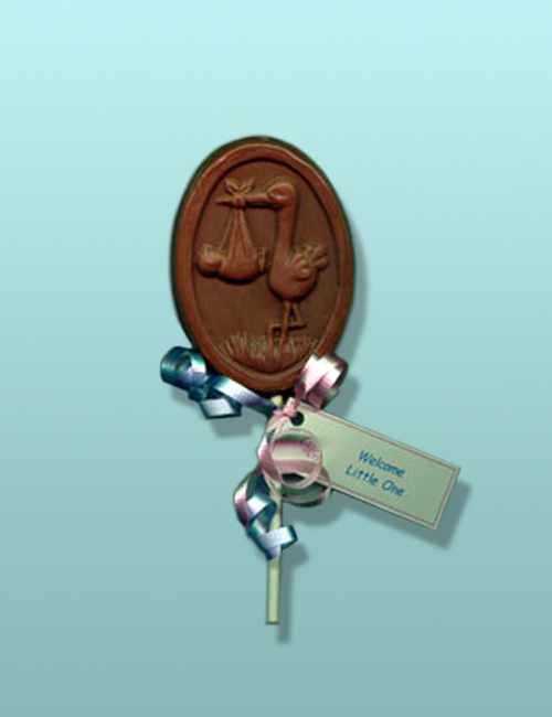 Chocolate Baby Stork Party Favor