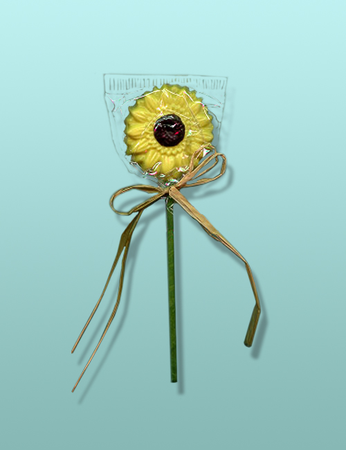 Chocolate Sunflower Long Stem Favor