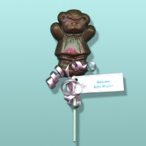 Chocolate Teddy Bear Girl Party Favor