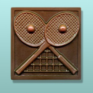 Chocolate Tennis Cross Racquet Plaque
