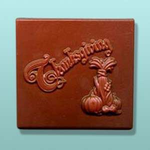 Chocolate Thanksgiving Plaque