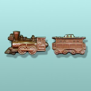 Chocolate Antique Engine with Caboose