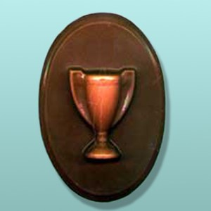 Chocolate Trophy Oval Plaque