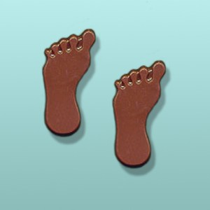 2 pc. Chocolate Footprint Mini Favor