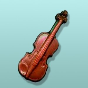 Chocolate Violin Music Favor