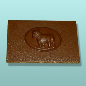 Chocolate Welsh Corgi Dog Flat Plaque