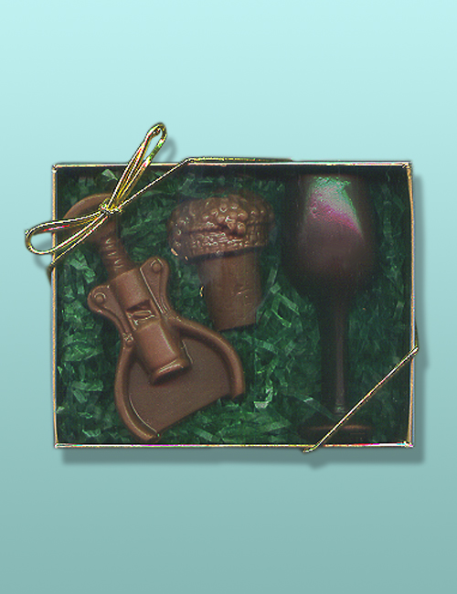 3 pc. Chocolate Wine Gift Set