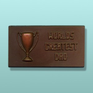 Chocolate Worlds Greatest Dad Plaque