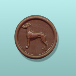 CHOCOLATE GREYHOUND DOG