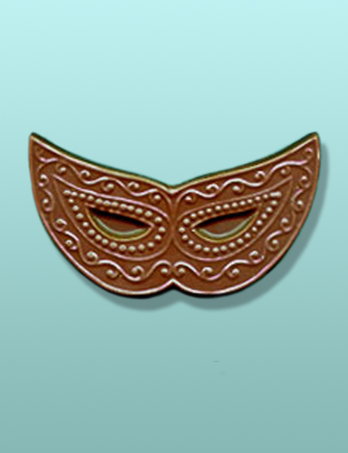 Chocolate Mardi Gras Mask Favor