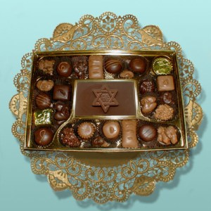 Star of David Card Chocolate Assortment