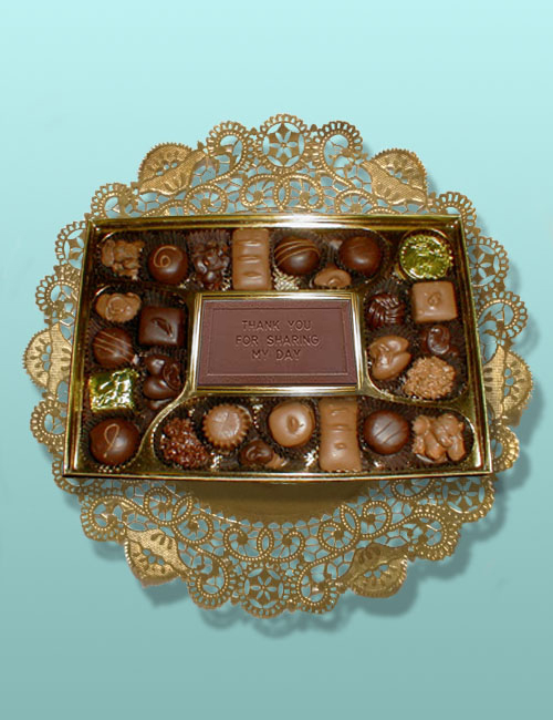 Thank You Card V Chocolate Assortment