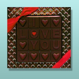 Chocolate Valentine I Love You Break-Up Bar