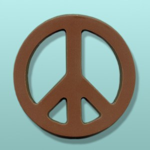 Chocolate Peace Sign X-Large