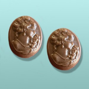 2 pc. Chocolate Cameo Favor