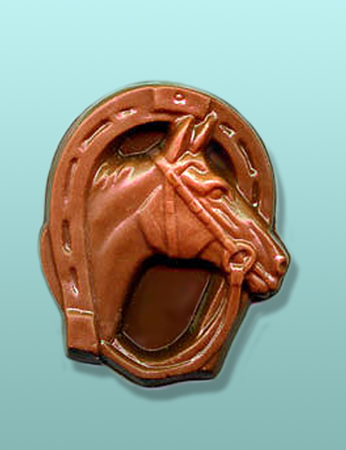 Chocolate Horse Head Horse Shoe