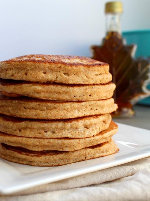 Whole Wheat Oatmeal Pancakes - Chocolate With Grace