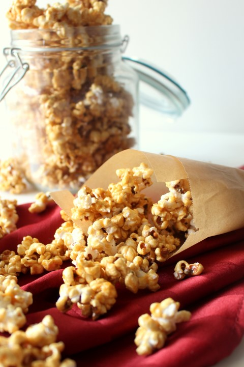 microwave salted caramel popcorn chocolate with grace