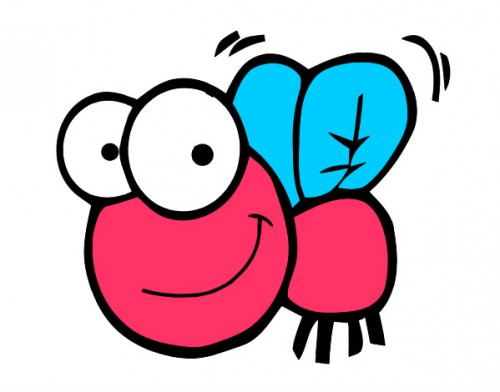 mosca-feliz-animales-insectos-pintado-por-amiira-9831160