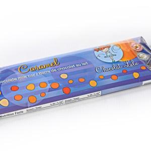 Barre de chocolat au caramel