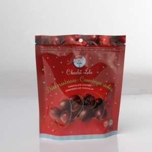 Canneberge séchées enrobés de chocolat noir