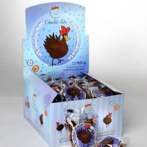 Boîte de 24 poules de chocolat au lait