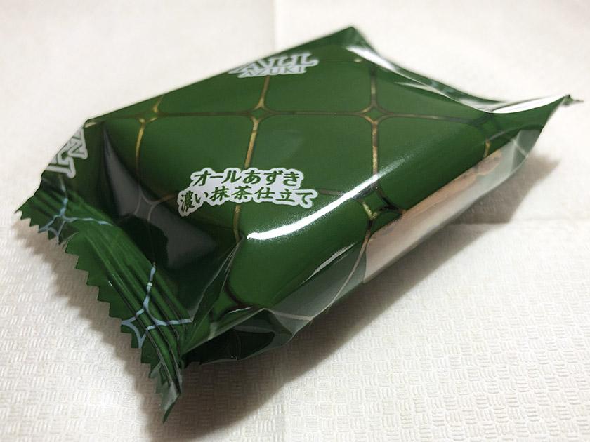 濃い抹茶色の個包装