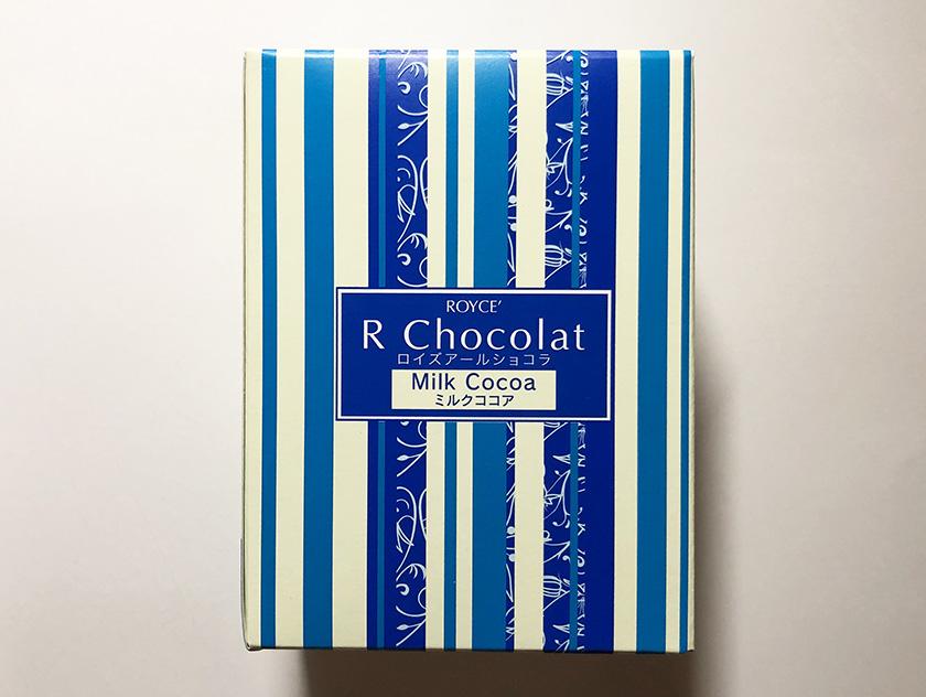 『ロイズ』の「アールショコラ[ミルクココア]」のパッケージ(紙箱)