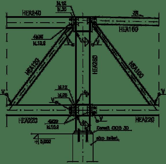 Detal podporowy S-P (Słup-Przekrycie) w systemie Mitex
