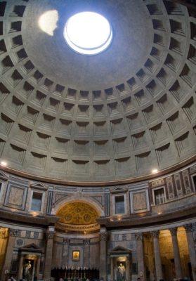 Kopuła Panteonu w Rzymie (widok wnętrza)