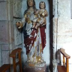 Statue de la Vierge de Ceignac (bois sculpté XIIIe)