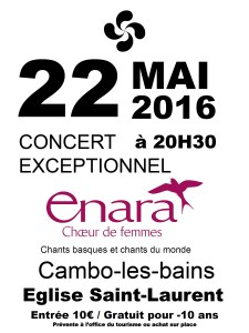 Affiche Concert CAMBO 22-05-16