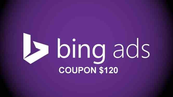 Bing Coupon $120