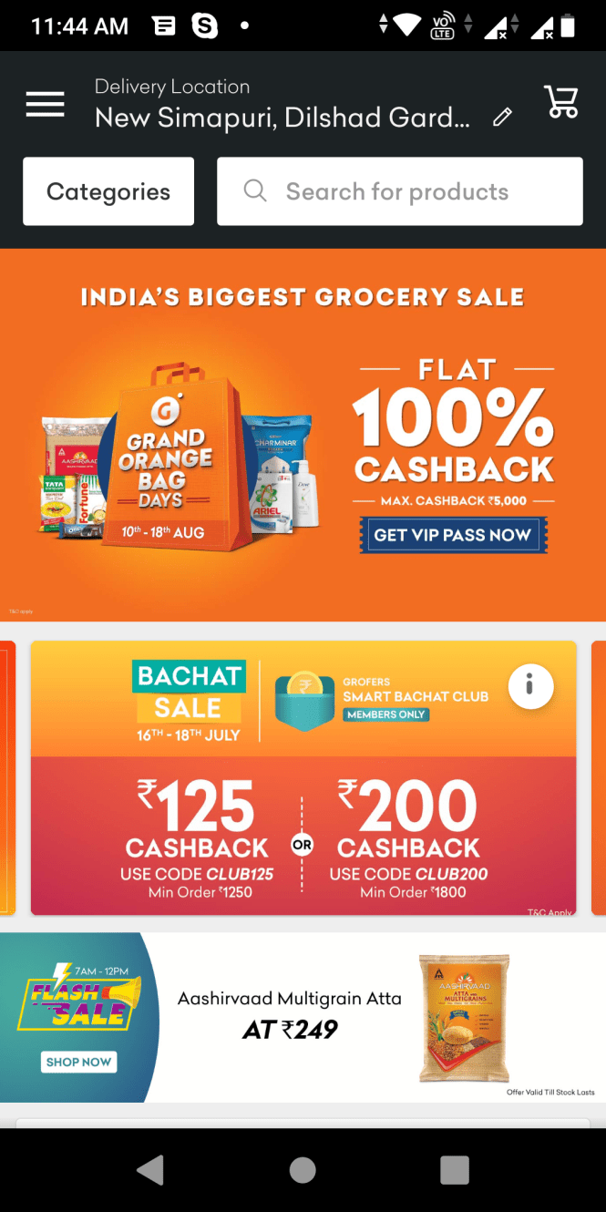 Grofers Referral Code - Refer and Earn 150 Grofers Cash Now