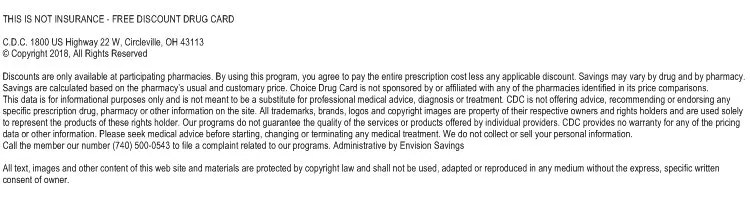 Free prescription discount drug card