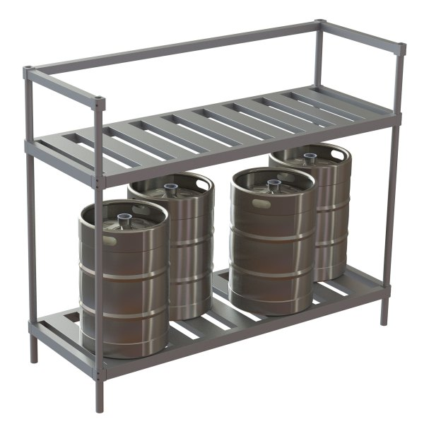 Space Saver Half Size Rack w/Open Top holds same # of kegs with a smaller footprint