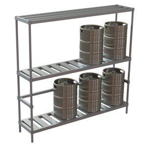 8 Keg Standard Rack w/Tubular Top Shelf