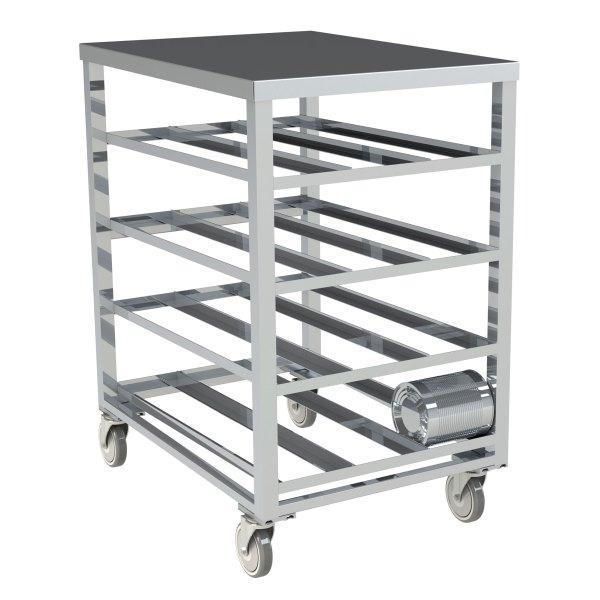 72 Can Capacity, Aluminum Top Can Rack