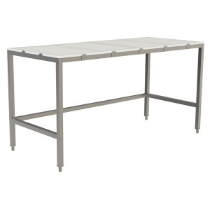 Poly Top Work Table, no Back Splash with Open Base and U-Brace