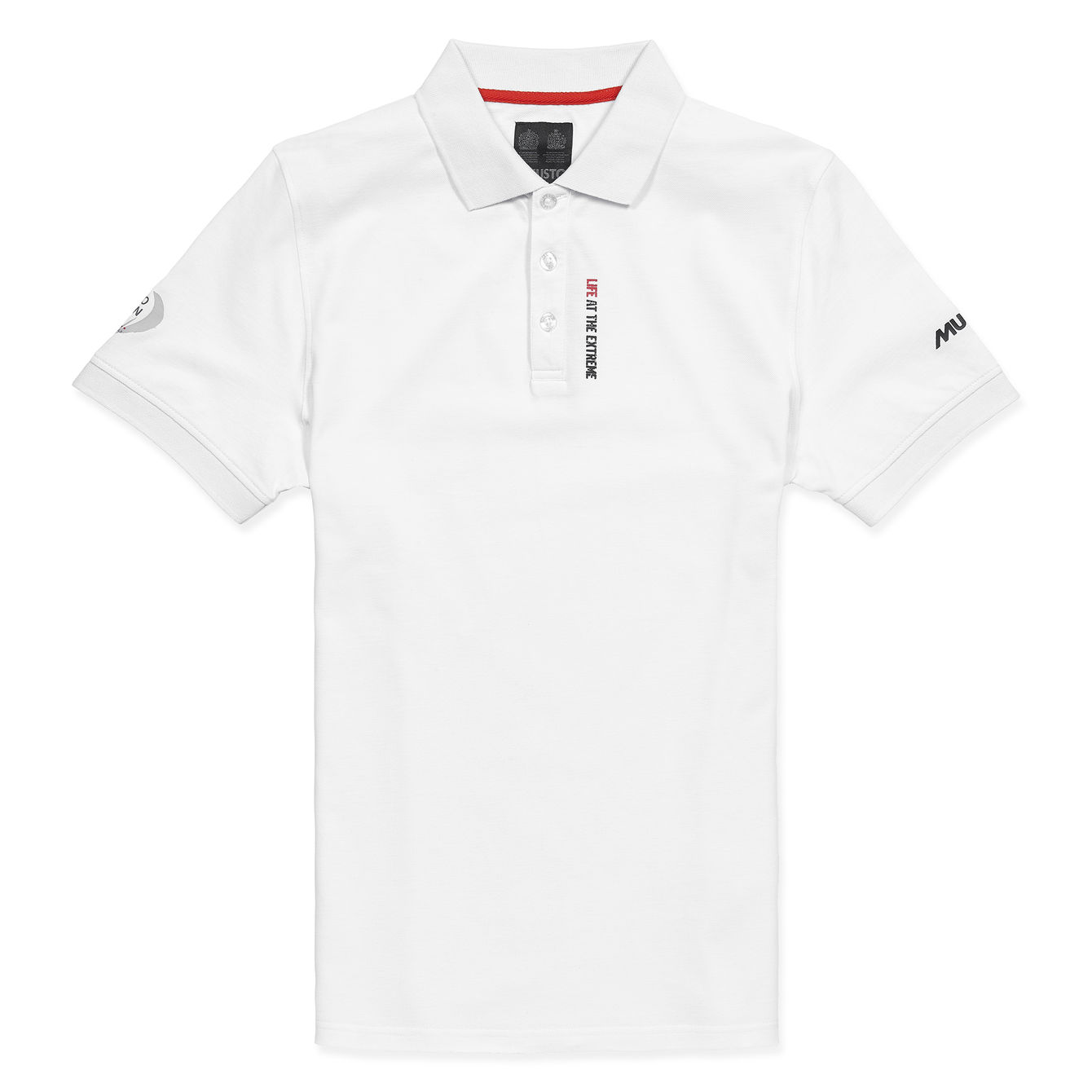 Mens White Volvo Ocean Race Polo Shirt By Musto