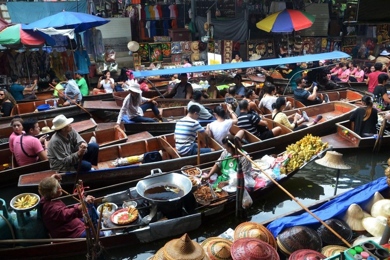 Bangkok Schwimmender Markt